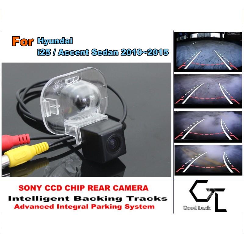 Car Camera For Hyundai i25 / Accent Sedan 2010 ~ 2015 Parking Assistance Tracks Module Rear View Camera HD CCD(China (Mainland))