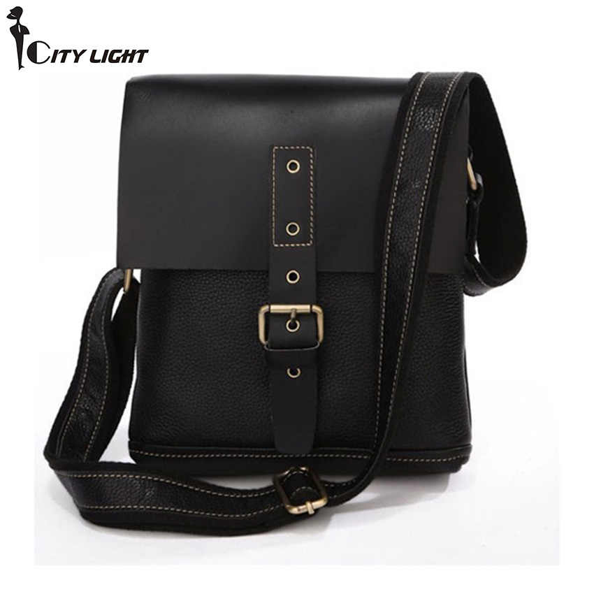 2015 New Leather Men Messenger Bags Casual brand Business bag Shoulder Handbags for man Free Shipping 7157A Black<br><br>Aliexpress