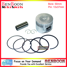 GY6 100CC 50mm PISTON KIT 4T 139QMA/QMB Chinese Scooter Parts ATV Parts Znen Baotian Peace Taotao Icebear Romet Free Shipping