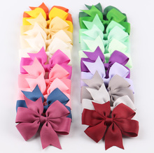 Buy 20pcs/lot 7 Style Grosgrain Ribbon Hair Bows Clips Girl Hair Ties Rope Kids Hair Clips Hairpins Christmas Hair Accessories for $5.60 in AliExpress store