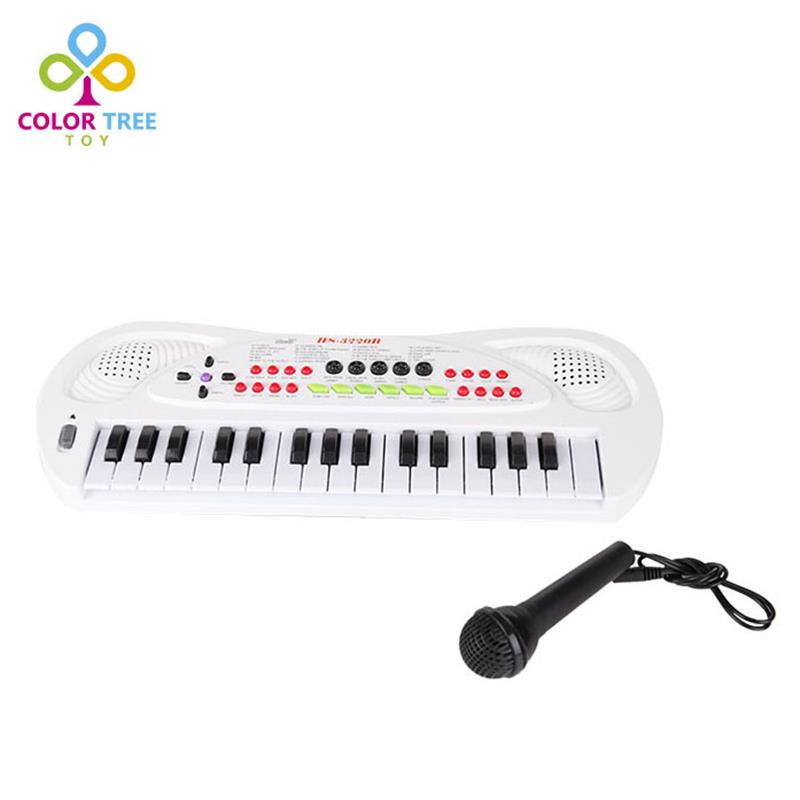 32 Keys Music Electronic Keyboard Kids Multifunction Electric Piano With Microphone Musical Instruments Toys Children Gifts(China (Mainland))