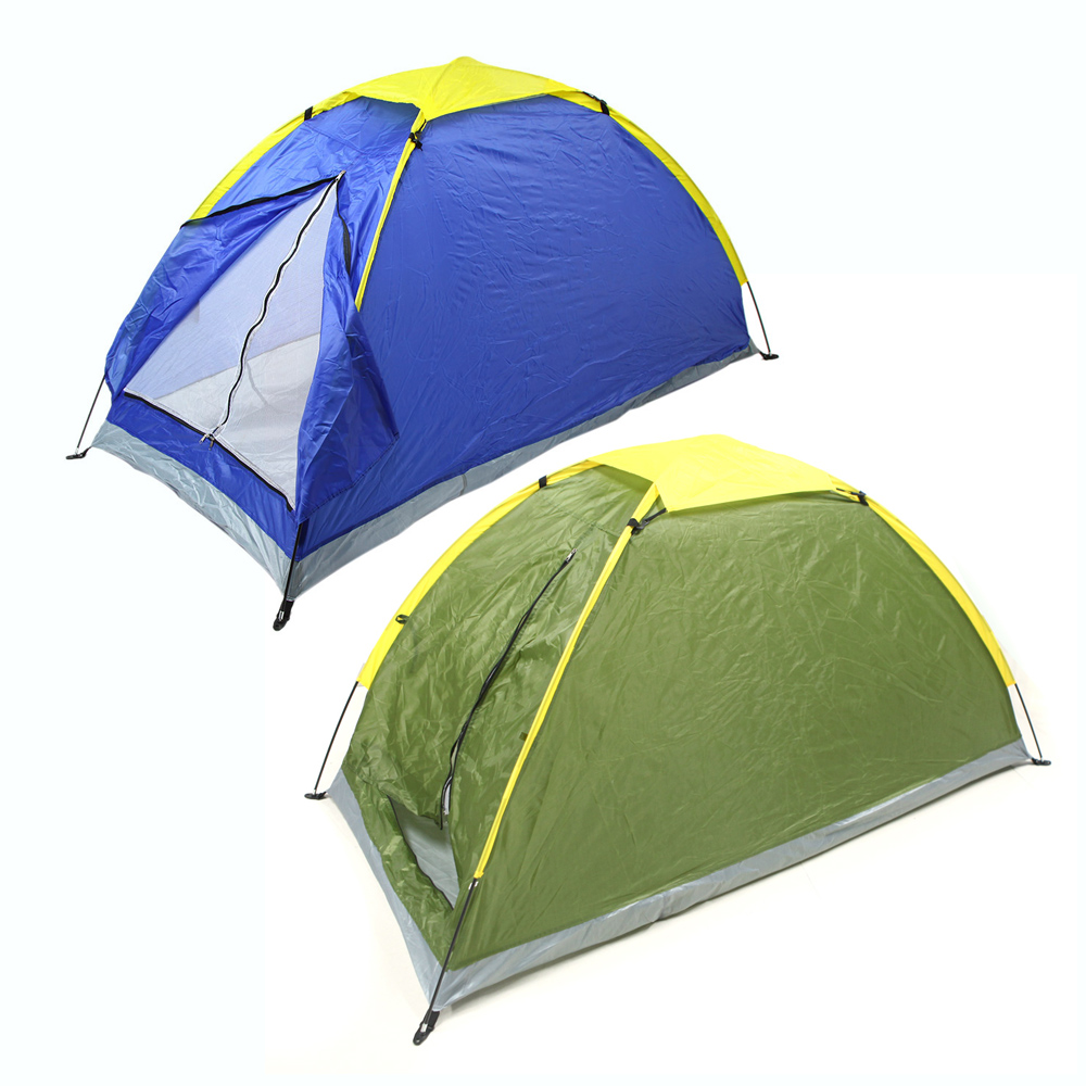 Two Person Tent Outdoor Camping Tent Kit Camping Tent Single Layer Outdoor Water Resistance with Carry Bag for Hiking Traveling(China (Mainland))