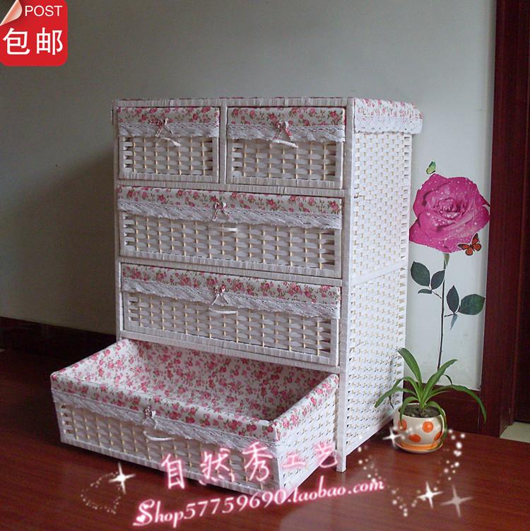 Bedside cabinet rustic storage cabinet child wardrobe storage cabinet shoe rattan kitchen cabinet(China (Mainland))