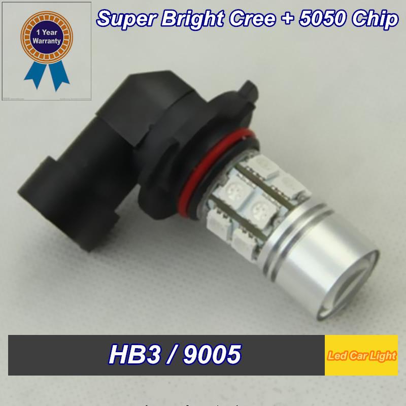 2 PCS HB3 9005 Super Led SMD+CREE Q5 7W DC 12V Built-in constant current drive LED Fog Lights Car Led Light(China (Mainland))