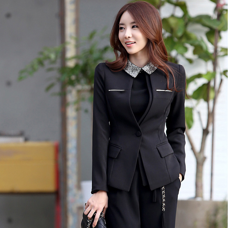 Amazing Skirt Suit For Women Two Piece Skirt Sets 2015 Latest Ladies Suits Design Winter Elegant Suit ...