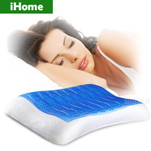 New Comfort Cooling Gel Pillow sheet Neck Improve Sleeping Healthy Massage Effective Headrest Cushion Cold pad for Summer Colded(China (Mainland))