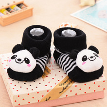 1 Pair New Cute Baby Socks Newborn Animal Cartoon Doll 3D Infant Supplies Model Anti slip