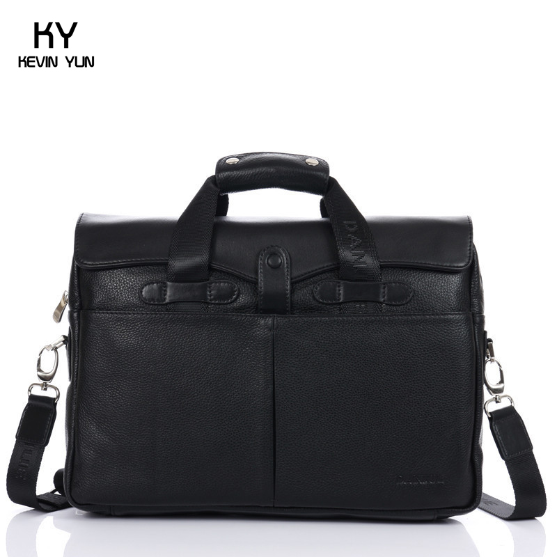 Vintage genuine leather bag men briefcase laptop bolsas brand handbags shoulder bags business leather sac men travel bags(China (Mainland))