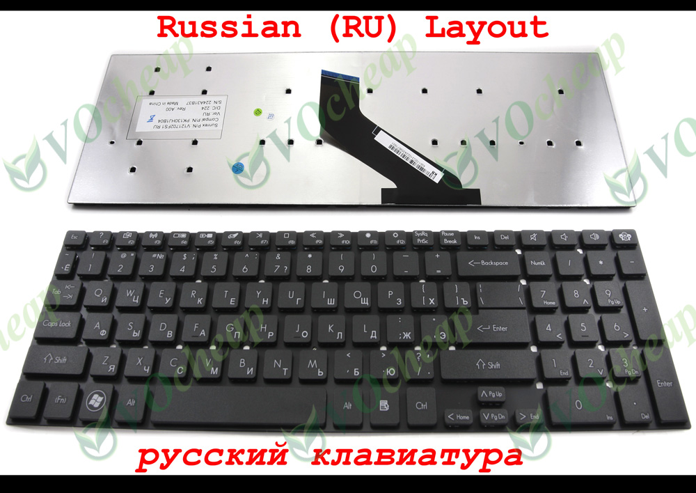 Laptop keyboard Gateway NV55 NV57 compatible Acer 5830 5830G 5830T 5830TG 5755 5755Z 5755ZG 5755G Black Russian RU - Hangzhou Ampro Electronics Co., Ltd. store