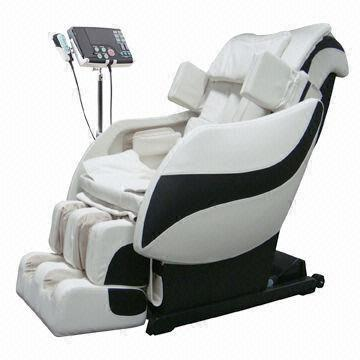 3D Roller Mechanism Design Zero Gravity Massage Chair with MP3/MP4/AV/DVD/VCD Device (Color Black and White)(China (Mainland))