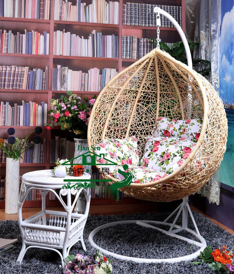 Nest Basket With Armrests Rattan Wicker Chair Outdoor Balcony Patio Swing Hanging Basket Nest Beach Chairs Rocking Chair(China (Mainland))