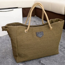 2015 New Canvas Handbag Personality Contracted Large Bag Single Or Double Rope Shoulder Bag For Woman