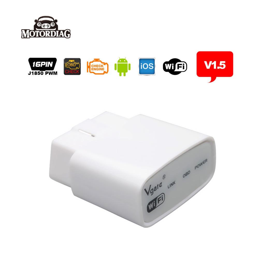 Vgate iCar Wifi ELM327 V1.5 OBD 2 ELM 327 OBD2 V1.5 Code Reader Car Scanner Automotive Diagnostic-Tool For iPhone Android PC(China (Mainland))