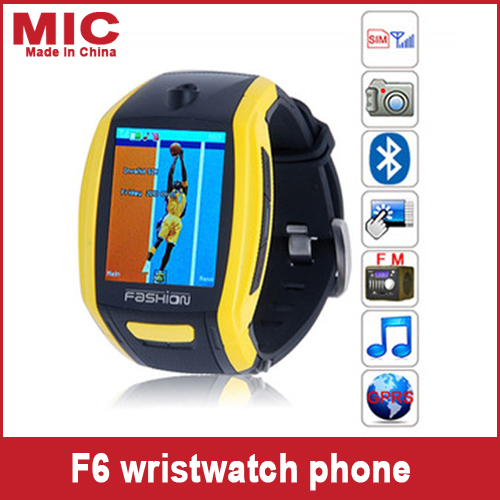 2013 Quad Band 1.8 inch TFT Touch Screen Watch Moblie Phone Wireless Transmission + Compass Supported Watch Cell Phone F6 P130(China (Mainland))