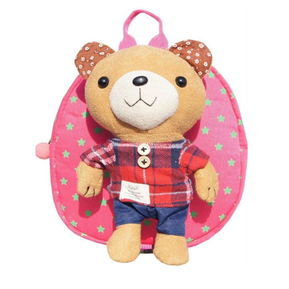 Детей малышей плед рюкзак Bookbag плечах сумка для детей 3-6 лет ребенка малыша сумки анти-потерянный медведь