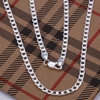 N132 20 925 jewelry silver plated Necklace silver plated Pendant fashion jewelry 4mm Necklace 20 inches