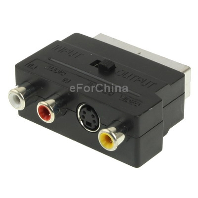RGB Scart Male to S Video and 3 RCA Audio Adaptor Converter(China (Mainland))