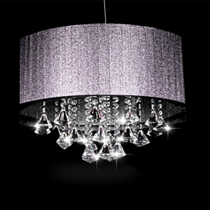Creative personality Cloth oval K9 crystal lustre luminaria E14 light Living room room aisle Chandeliers(China (Mainland))
