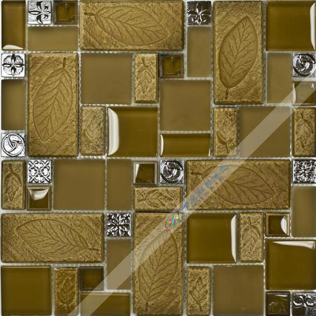 [Colorful Mosaic]  Mixed Square and Strip Glass Mosaic Tile Especially for Kitchen Backsplash