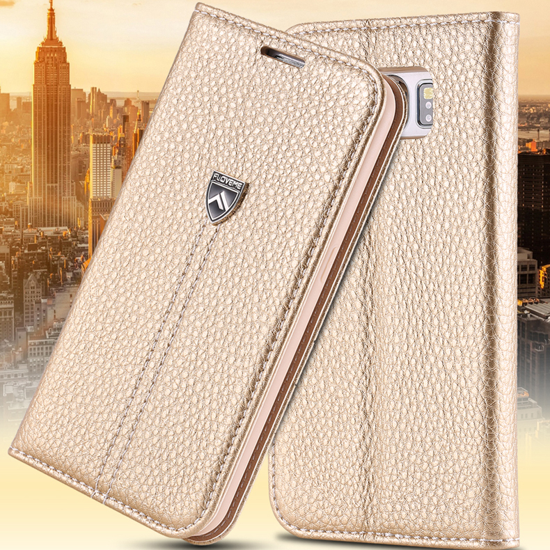 For Samsung S6 Top Quality Luxury Real Leather Case For Samsung Galaxy S6 G9200 Wallet Stand Card Holder Sleeve Cover Bag(China (Mainland))