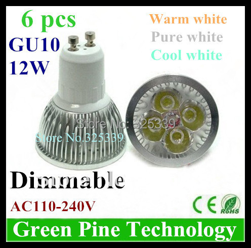 Dimmable 12W 9W Cree GU10 MR16 E27 B22 E14 GU5.3 High Power LED Spotlight Downlight Bulb Lamp Lighting - Stareyes Green Pine Store store
