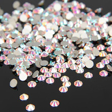 1440 pz/pacco SS3-SS12 crystal clear ab non hotfix flatback strass nail rhinestoens per unghie 3d nail art decorazione gemme(China (Mainland))