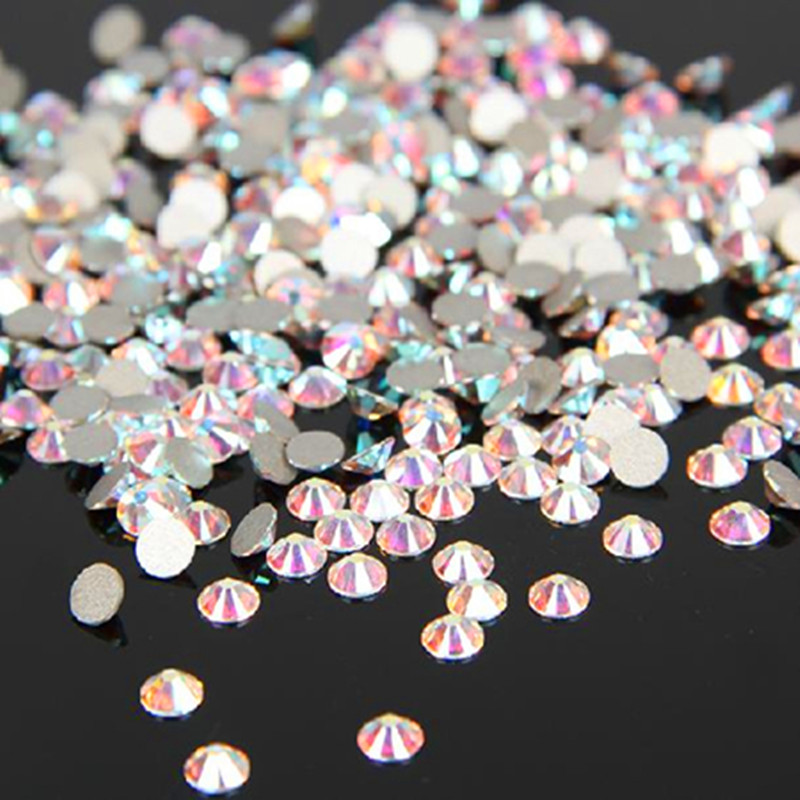 Гаджет   1440PCS/Pack SS6 2mm Crystal Clear AB Non Hotfix Flatback Rhinestones Nail Rhinestoens For Nails 3D Nail Art Decoration Gems None Красота и здоровье