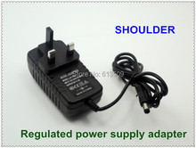 wholesale price input AC110v 220v to output DC 12v british plug regulated power supply adapter 2000Ma