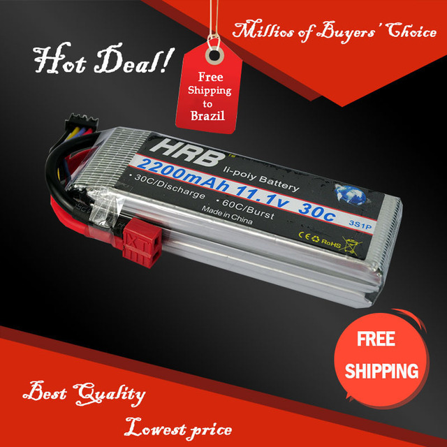 HRB 3S lipo battery 11.1v 2200mAh 30C For Trex-450 Fixed-wing rc helicopter rc car rc boat quadcopter Li-Polymer battey