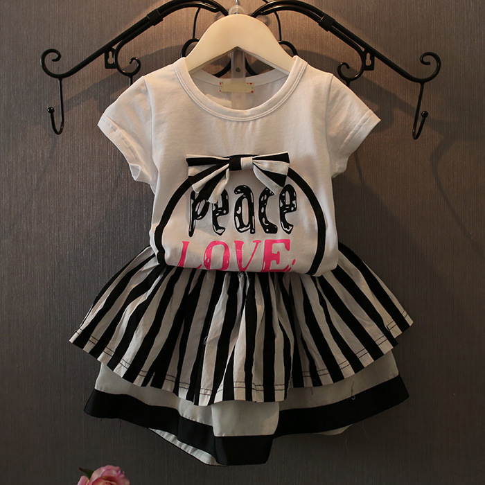 Casual Girls Clothing Sets Bow Baby Girl Clothes Short Coat + Tutu Skirt Suit