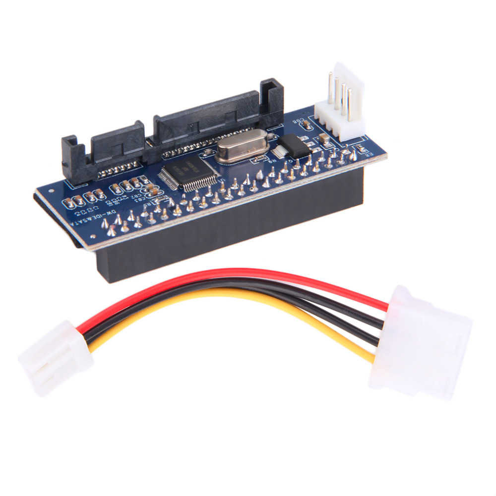 Colohas 40-Pin IDE Female To SATA 7+15Pin 22-Pin Male Adapter PATA TO SATA Card(China (Mainland))