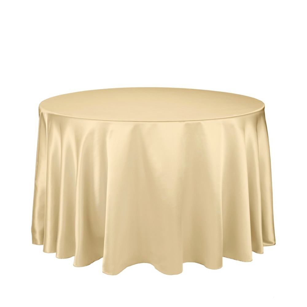 Fedex IE 108 in./280cm Round Satin Tablecloth gold for Wedding Event Banquet Party, 20/Pack(China (Mainland))