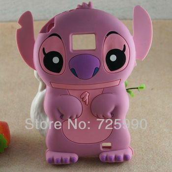 3D Stitch Silicon Soft Back Phone Case Cover For Samsung I9100 Galaxy SII S2 Free Shipping