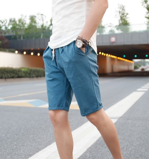 Summer Fashion Mens Shorts 2015 Summer New Japanese Style Cotton Linen Korean Shorts Linen
