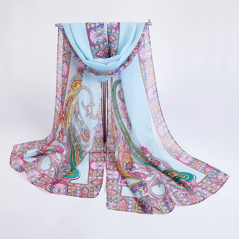 new bohemia style spring and autumn cashew print fashion scarf colorful chiffon silk scarf women shawl pashmina 12 colors(China (Mainland))