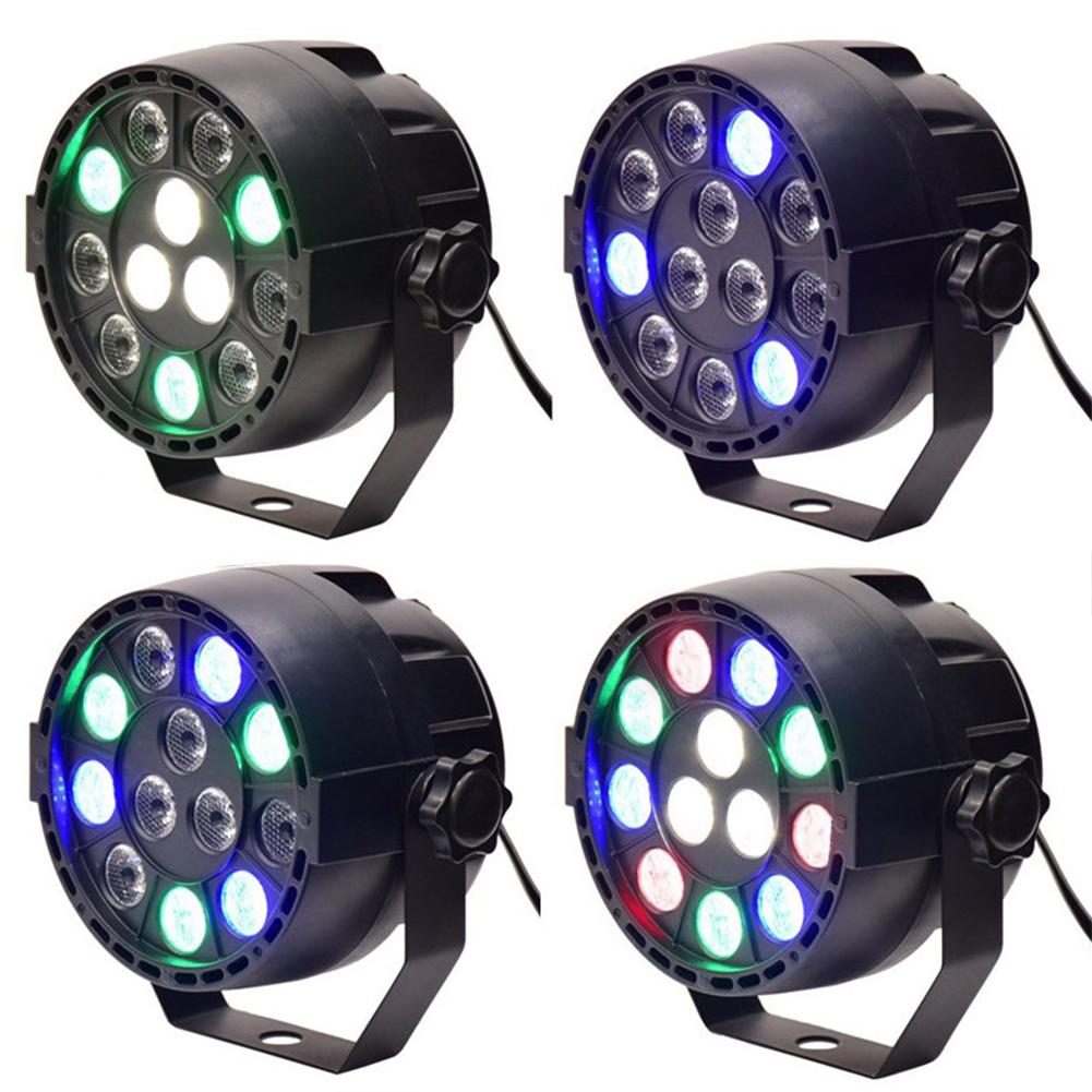 12W RGB Led Par Light 4in1 RGB Led Slim Par Can Strobe Laser DMX DJ Disco Professional Stage Lights Sound Party Equipment(China (Mainland))