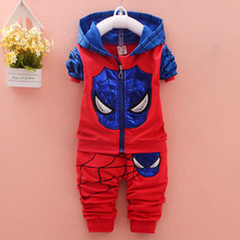 Buy 2017 Newest Spring Spider Man Boys clothes set Baby Suits Kids Clothing Set Infant Coat Pants 2 Pcs Sets 2 Children Suits for $15.75 in AliExpress store