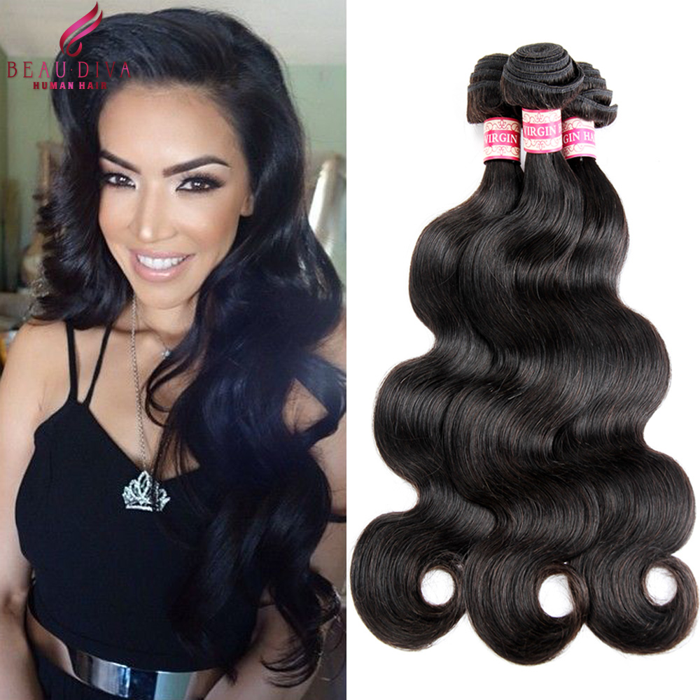 Halo Lady Hair Peruvian Virgin Hair Body Wave 1Pc/ Bundle 7A Unprocessed Virgin Hair Extensions Tangle Free Peruvian Hair Weave<br><br>Aliexpress