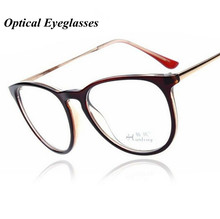 new fashion eyeglasses retro vintage metal plain frame optical glasses men women myopia eyeglasses frame oculos de grau A1