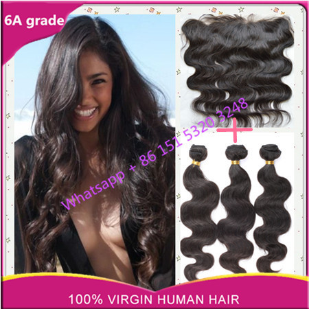 Best peruvian virginy hair body wave with lace frontal ms lula hair bundles with lace frontal closure ms lula hair with closure<br><br>Aliexpress