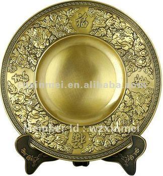Die cast blank memorabilia plate