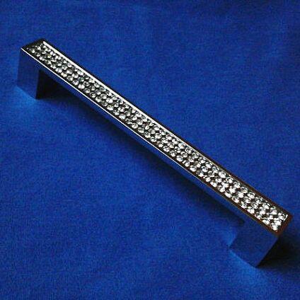 160mm fashion luxury glass crystal furniture decoration handles shiny silver kichen cabinet dresser wardrobe door pull knob 6.3