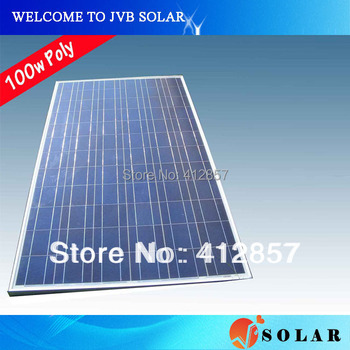 Solar Panel Kits 100w Polycrystalline PV Cell Module 17.2V Charge for 12V Battery to Power Supply CE TUV CEC