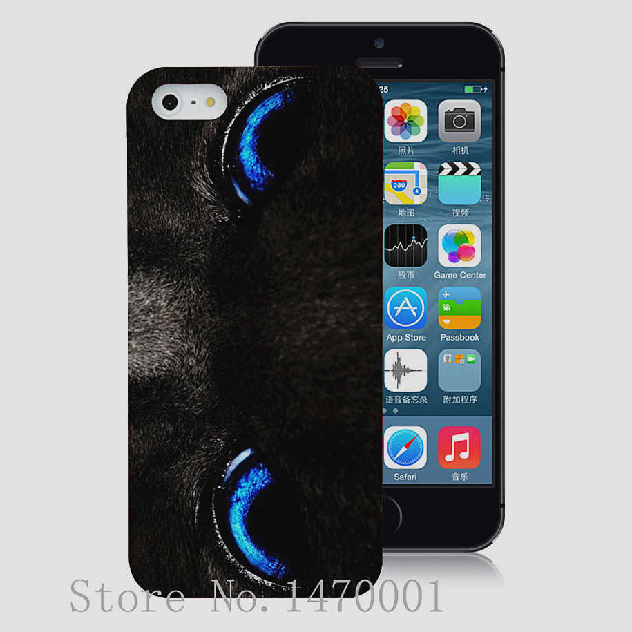 Free shipping Blue Cat Eyes mobile phone cases cover for iPhone 6 6 Plus 5 5s 5c 4 4s with free gift plastic hard cover