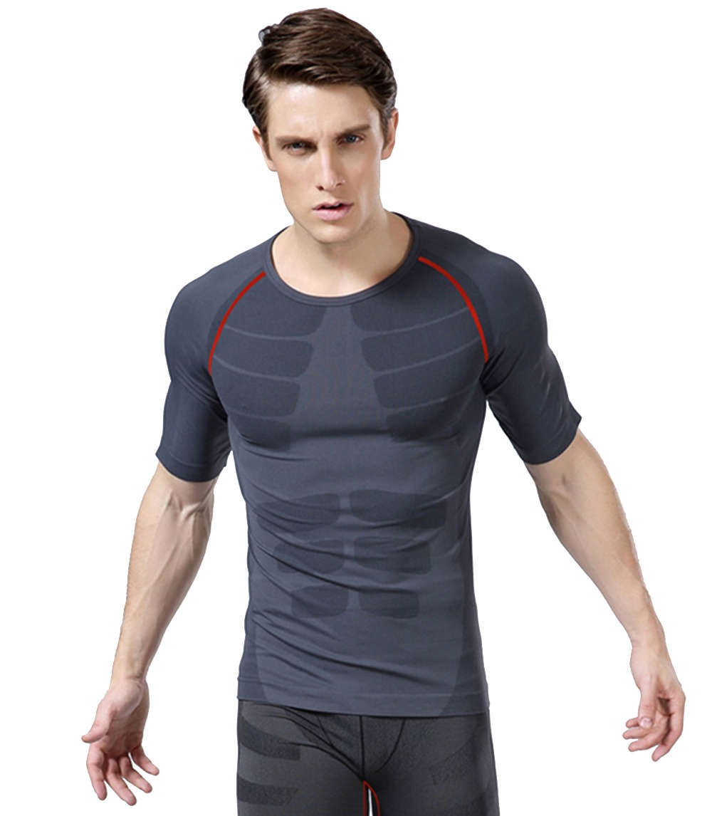 New mens brand gym sports shirts bodybuilding equipment Fitness shirts for men