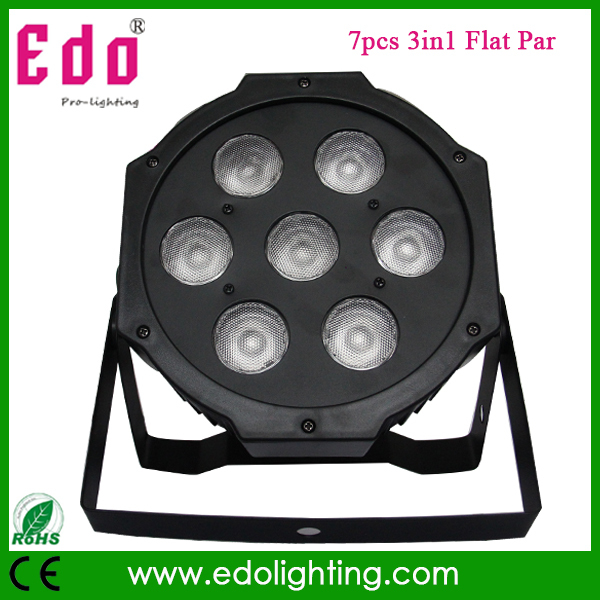 2015 Hotest 7pcs*10W RGB LED par light and 3in1 flat par64 can for stage dj light(China (Mainland))