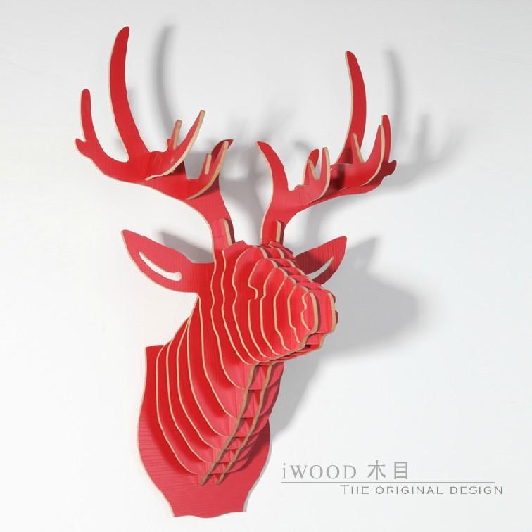 Deer head,moose milu elk caribou head,European style bar and restaurant decoration,Nordic North America,Canada style home decor(China (Mainland))