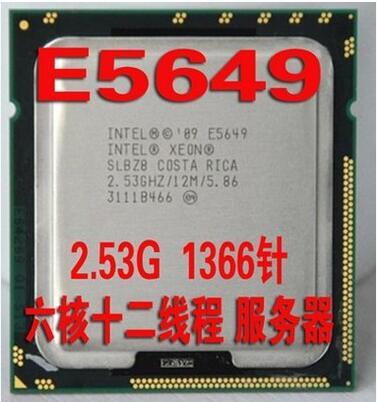 Intel Xeon Processor E5649 (12M Cache, 2.53 GHz, 5.86 GT/s Intel QPI) LGA1366 Desktop CPU(China (Mainland))