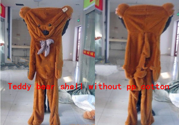 Freeshipping 1.8m Huge plush Teddy bear shell coat Giant life size 72'' plush clothing/clothes for adult 3 colors