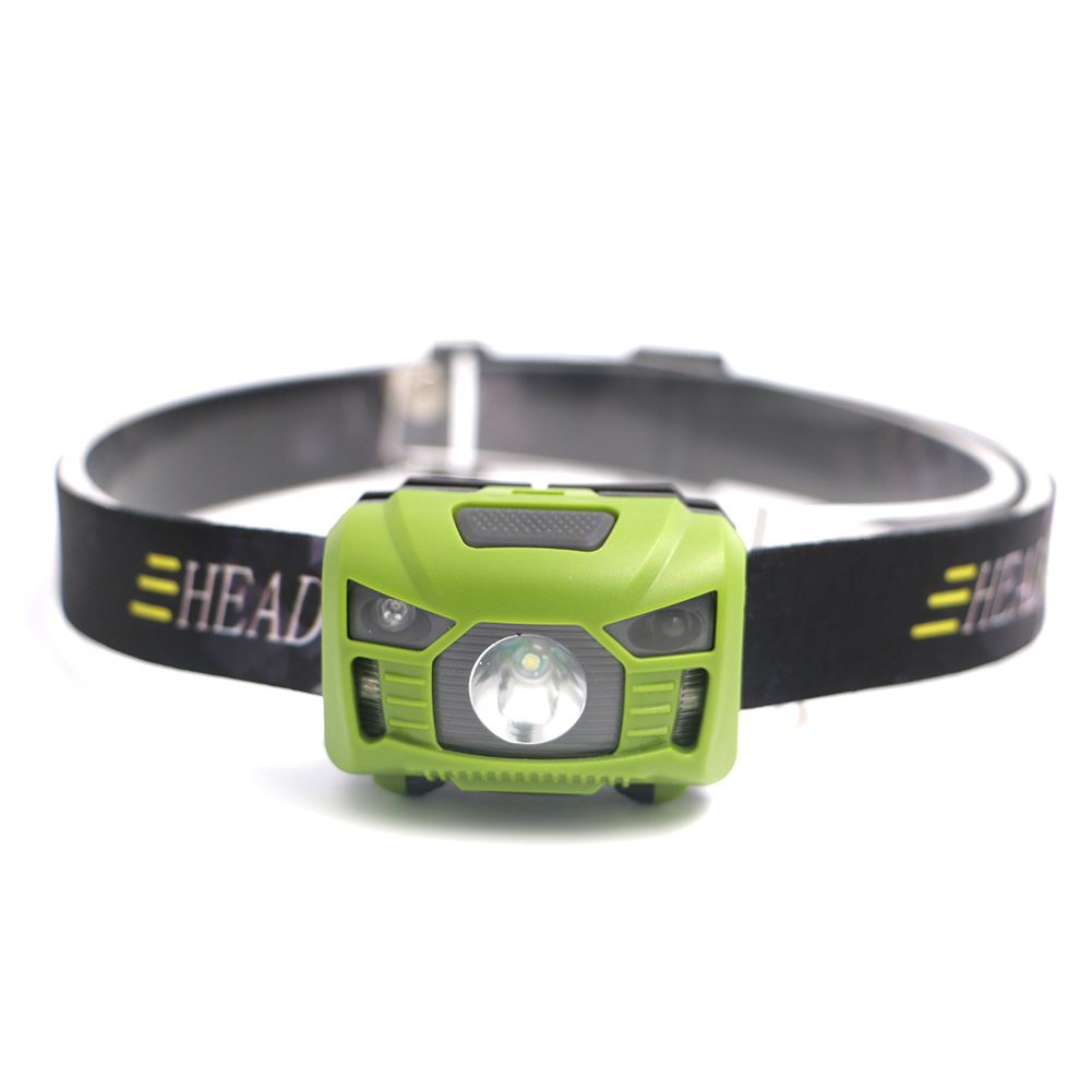Mini Rechargeable LED Headlamp Body Motion Sensor Headlight Camping Flashlight Head Light Torch Lamp for Camping+USB+battery